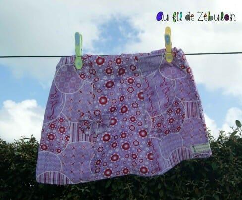 Montage de la jupe à panneaux…..Le Tuto