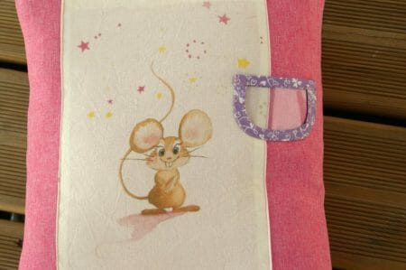 Coussin petite souris AuFildeZebulon